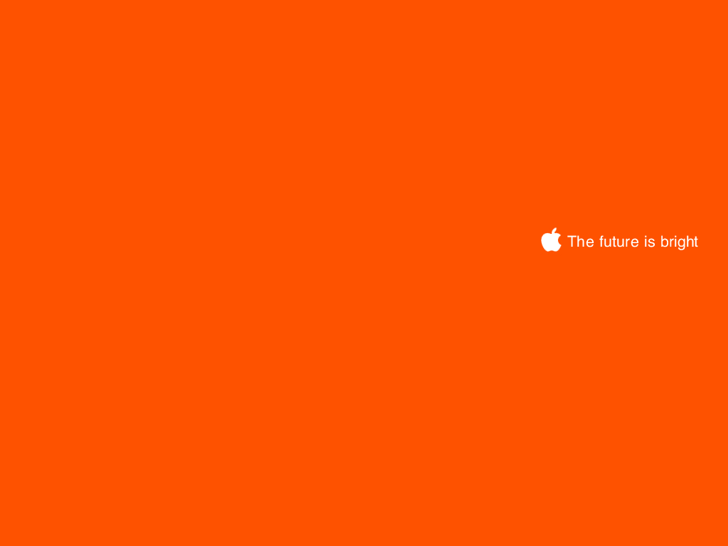 Simple Apple Leopard Desktop Bright Future