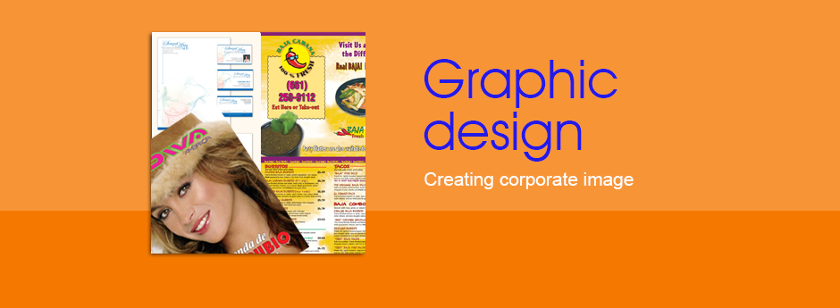 We have a variety of services from graphic design to help create a corporate image to its height.